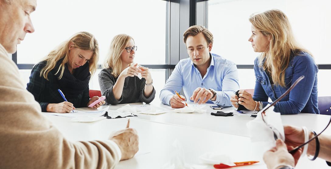 Vergadering met personeel