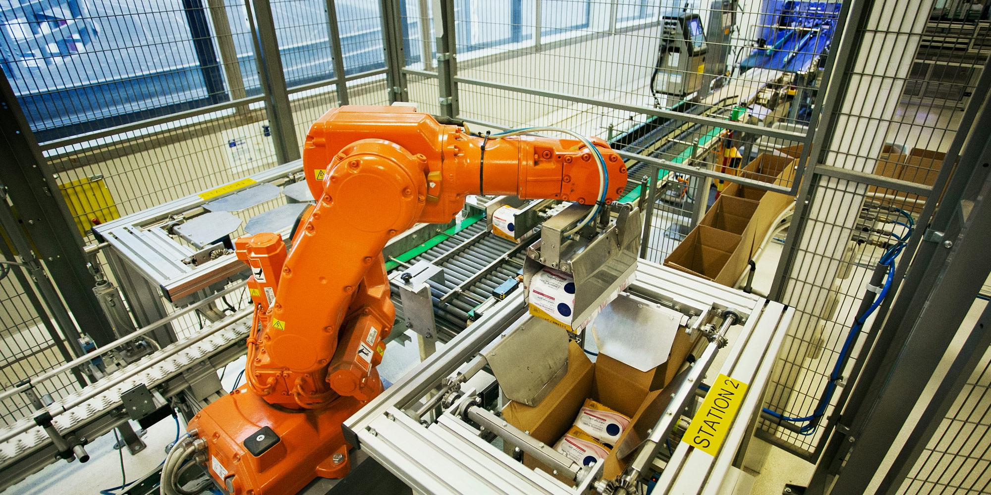 Robotarm in fabriek